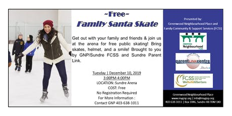 Free Family Santa Skate tickets