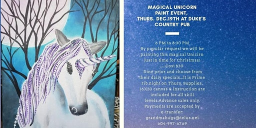 Magical Unicorn Paint Event