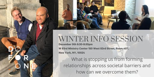 Do For One Winter Info Session (New Date 12/9)