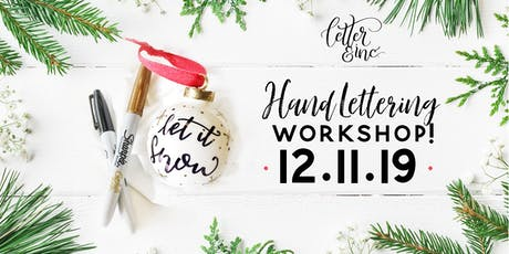 Intro to Hand Lettering: Christmas Edition tickets