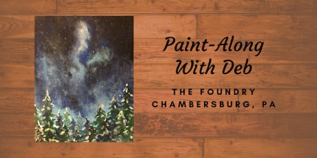 Treat Yourself Tuesday Paint-Along - Winter Forest Night tickets