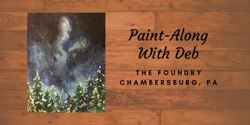 Treat Yourself Tuesday Paint-Along - Winter Forest Night