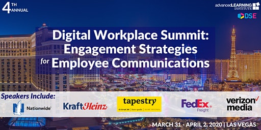 4th Annual Digital Workplace Summit: Engagement Strategies for Employee Communications