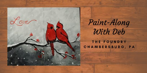 Treat Yourself Tuesday Paint-Along - Couple's Lovebirds