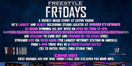 Listen Vision Recording Studios Presents: Freestyle Friday's  tickets