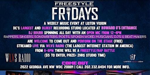 Listen Vision Recording Studios Presents: Freestyle Friday's