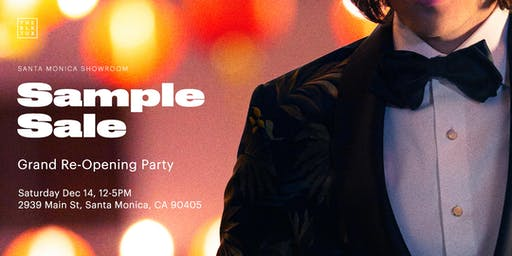 The Black Tux Sample Sale / Showroom Re-Opening