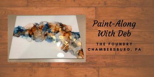 Treat Yourself Tuesday Paint-Along - Alcohol Ink Display Piece