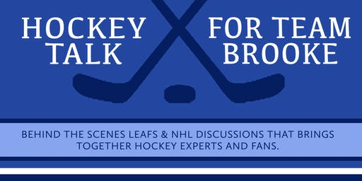Hockey Talk to benefit All Points Charitable Fund and Team Brooke!