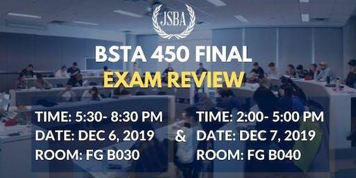BSTA 450 Final Review