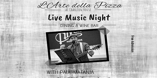 Live Music - Vocal and Guitar with Paul Matania