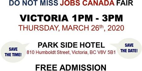Victoria Job Fair –  March 26th, 2020 tickets