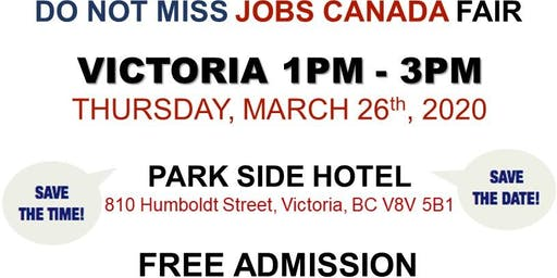 Victoria Job Fair –  March 26th, 2020