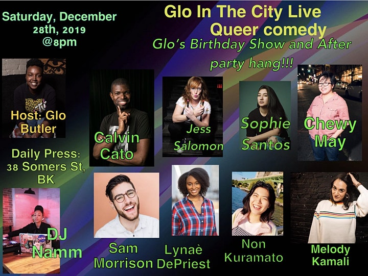 Glo In the City Live Queer Comedy Show And Birthday afterpary hang!! image