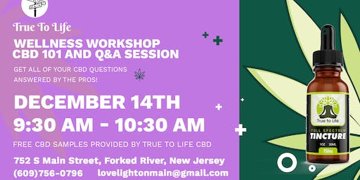 Wellness Workshop | CBD 101 and Q&A Session at Lovelight On Main