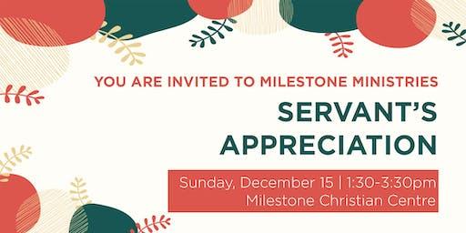Milestone Ministries Servant's Appreciation