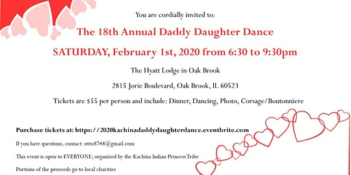 2020 Daddy Daughter Dance - Hyatt Lodge in Oak Brook (SATURDAY, February 1st, 2020)