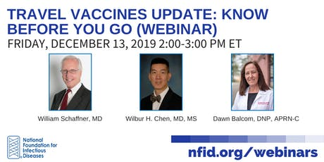 Travel Vaccines Update: Know Before You Go (Webinar) tickets