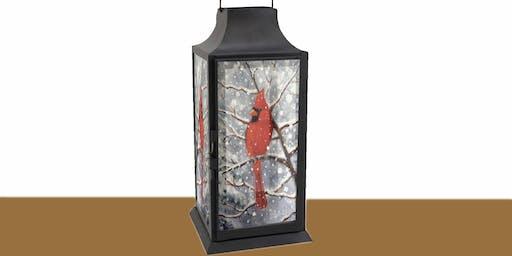 Winter Cardinal Lantern: Sip and Paint at Watergrasshill B&B!!!!
