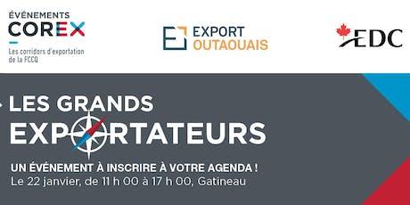 Les Grands Exportateurs COREX tickets