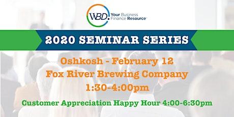 WBD 2020 Seminar Series - Oshkosh tickets