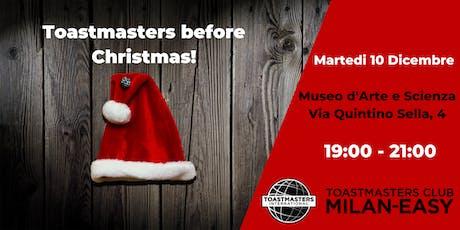 Sei pronto per il Brindisi natalizio?Allenati  con Toastmasters e stupisci! biglietti