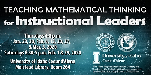 TEACHING MATHEMATICAL THINKING for INSTRUCTIONAL LEADERS, Region 1, Jan-Mar 2020