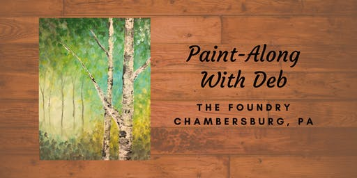 Treat Yourself Tuesday Paint-Along - Spring Green Birches