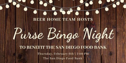 Ladies Purse Bingo Night to Benefit the San Diego Food Bank