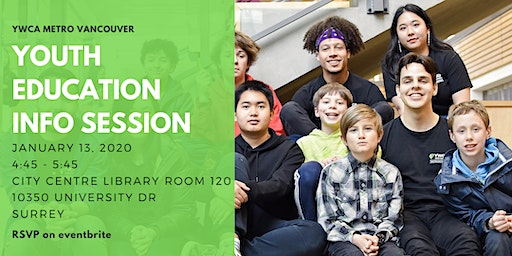 Youth Education Program Info Session - Surrey