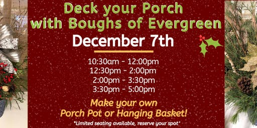 Create your Own Winter Porch Pot!