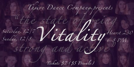 Vitality   Thrive Dance Company Fall 2019 Showcase tickets