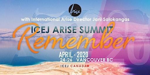 "2020 ICEJ Arise  Summit ""REMEMBER"""