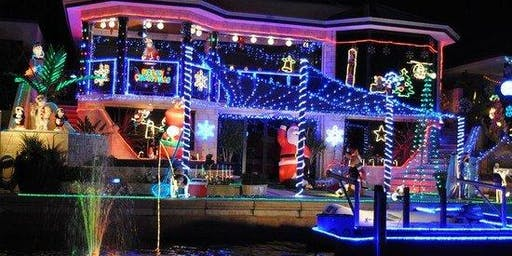 Christmas Light and Paddle at Nite Party w Kayaks and SUP