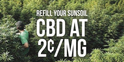 Sunsoil CBD 2 Cents/MG Refill Event