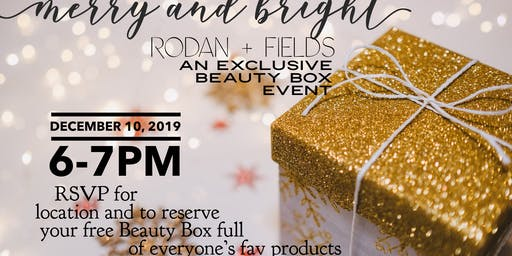 R+F Merry & Bright Beauty Box Event