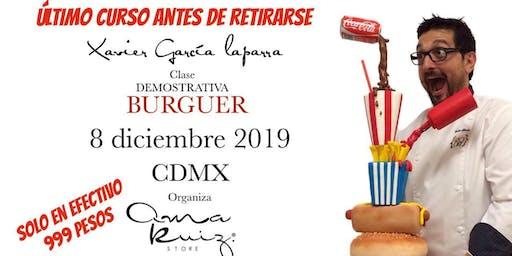 Burger con el Chef Xavier García en Anna Ruíz Store