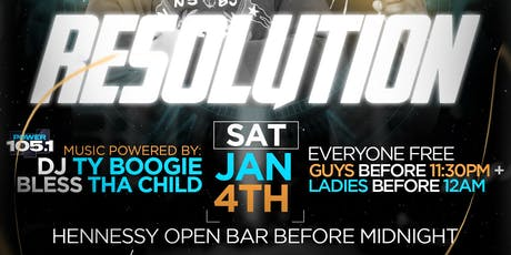 Lifestyle Saturdays Presents: RESOLUTION w| Henny Open Bar tickets