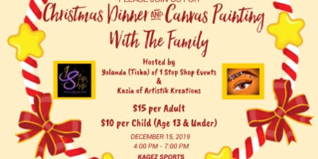 Christmas Dinner & Canvas Painting with the Family tickets