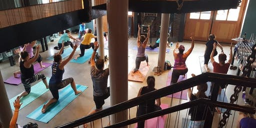 Yoga + Coma Coffee at Earthbound Beer
