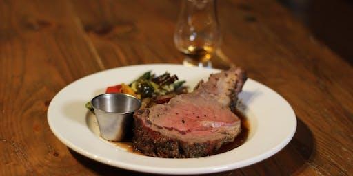 Prime Rib Dinner & Bourbon Tasting