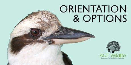 Orientation - ACT Wildlife tickets