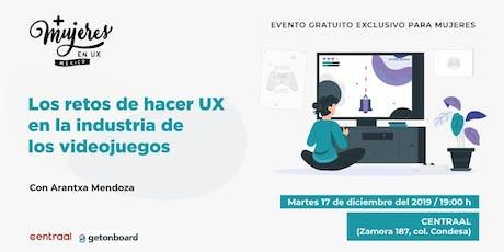 +Mujeres en UX México Meetup Diciembre 2019 boletos