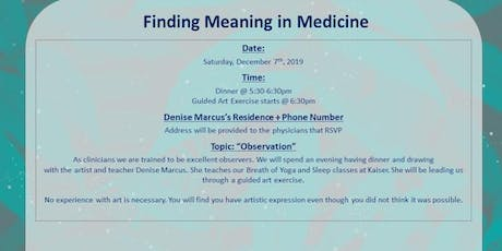 Finding Meaning in Medicine: Guided Art Exercise tickets