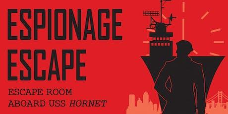 Espionage Escape Aboard USS Hornet tickets