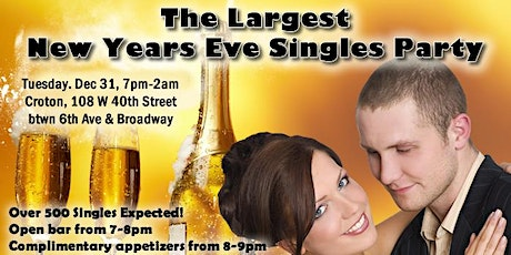 The Largest New Years Eve Singles Party (Best New Years Eve Party) tickets