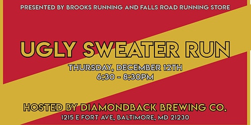 Brooks Ugly Sweater Fun Run from Diamondback Brewery