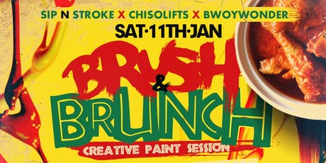 BRUSH & BRUNCH | Paint party | Food Included (3pm - 7pm) tickets