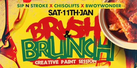 BRUSH & BRUNCH | Paint party | Food Included (8pm - 11pm) tickets