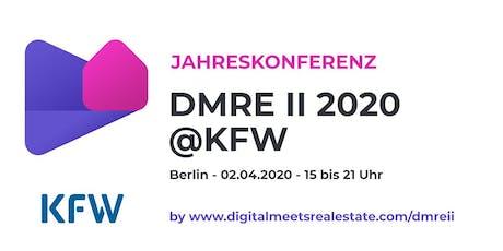 Digitalmeeetsrealestate.com Jahreskonferenz am 02.04.2020 bei der KfW Tickets